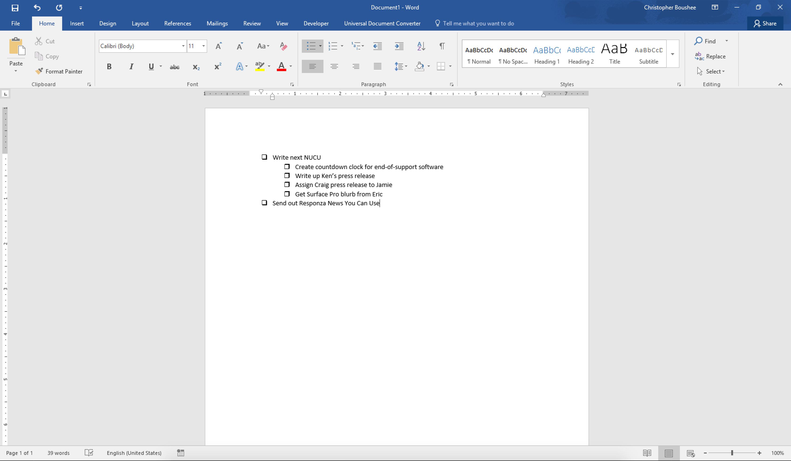Microsoft Word Adding Symbols And Checklists To A List Responza Llc